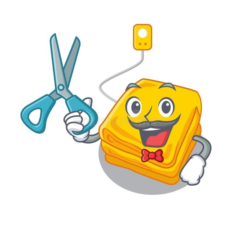 Fryzjer męski elektryczna koc w charakteru kształcie royalty ilustracja