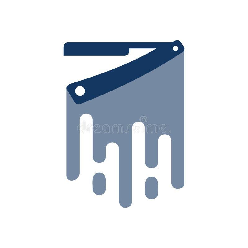Fryzjer męski farby loga ikony projekt royalty ilustracja
