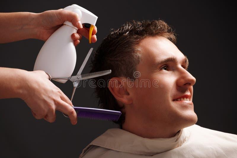 fryzjer męski klient zdjęcie royalty free