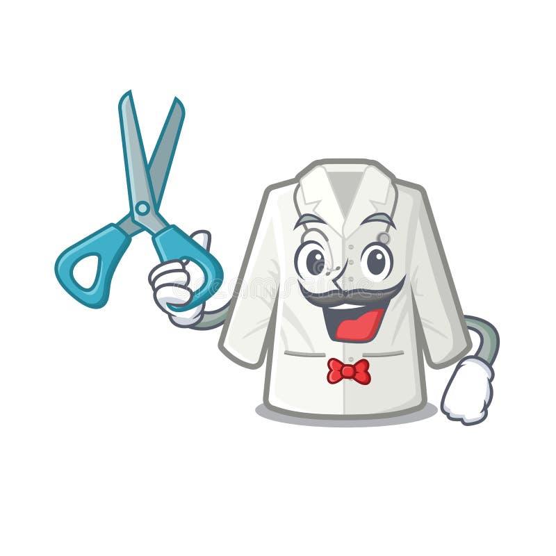 Fryzjer męski lekarki żakiet w kreskówka kształcie royalty ilustracja