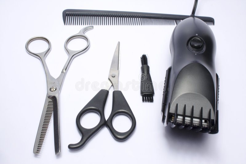 fryzjer męski narzędzi praca obraz royalty free