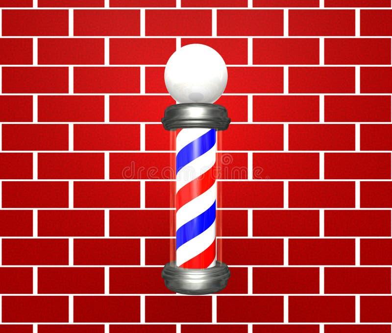 fryzjer męski słup ilustracji