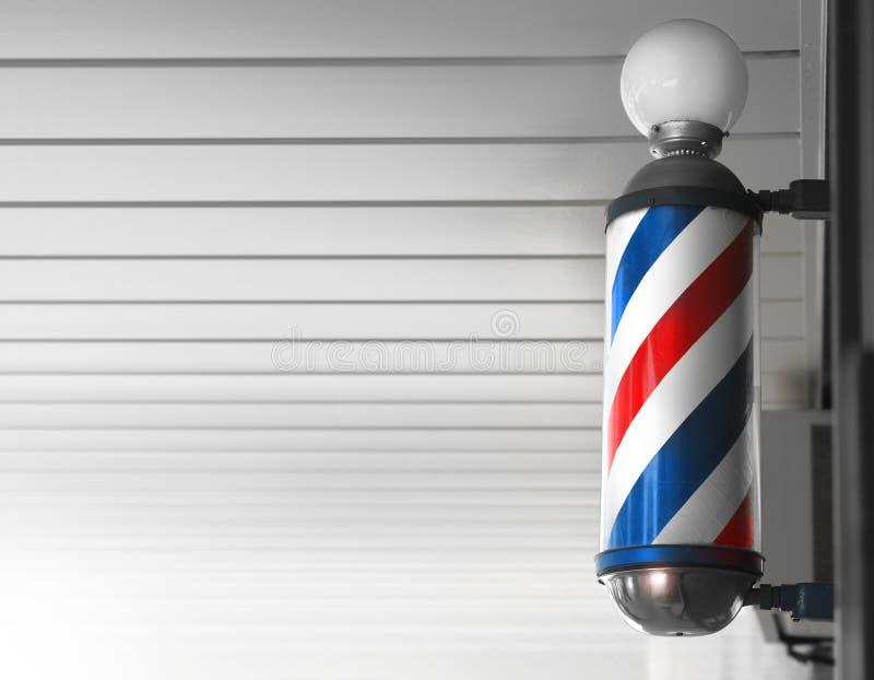 fryzjer męski słupa sklep zdjęcia royalty free