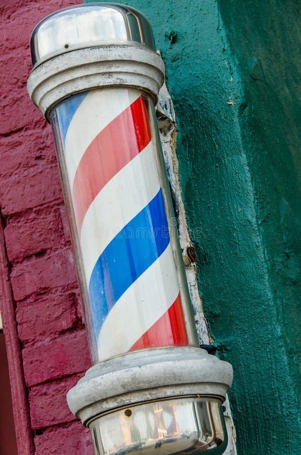 fryzjer męski słupa sklep obraz royalty free