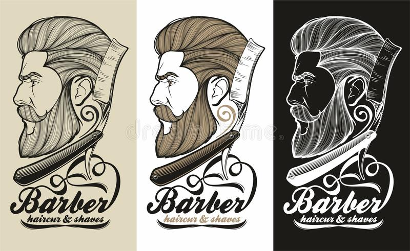 Fryzjera męskiego logo ilustracji