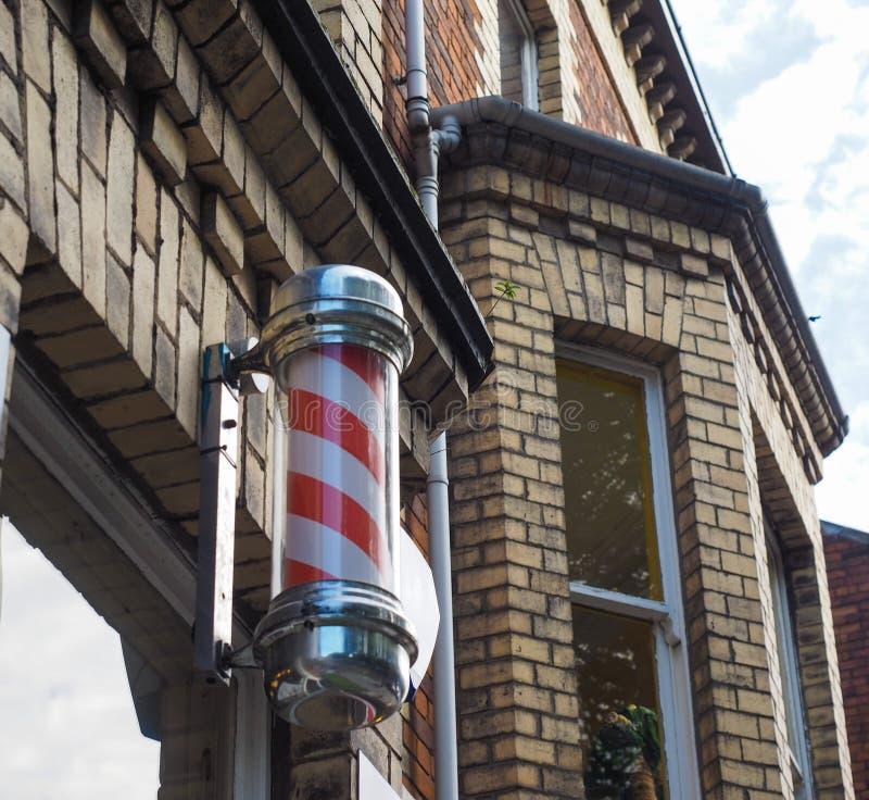 Fryzjera męskiego słupa znak zdjęcie royalty free