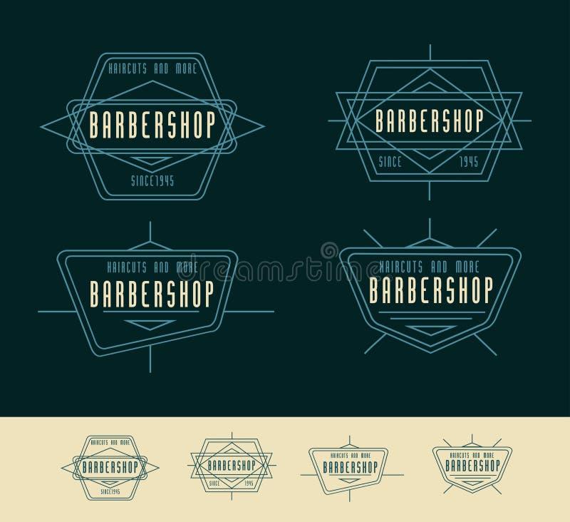 Fryzjera męskiego sklepu loga rocznika loga projekt royalty ilustracja