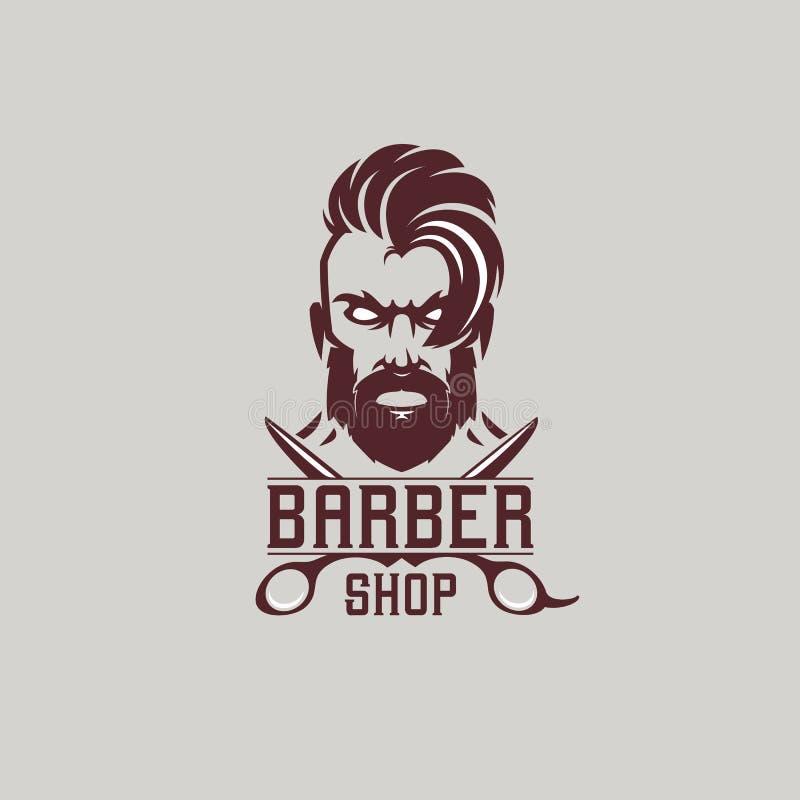 Fryzjera męskiego sklepu logo ilustracja wektor