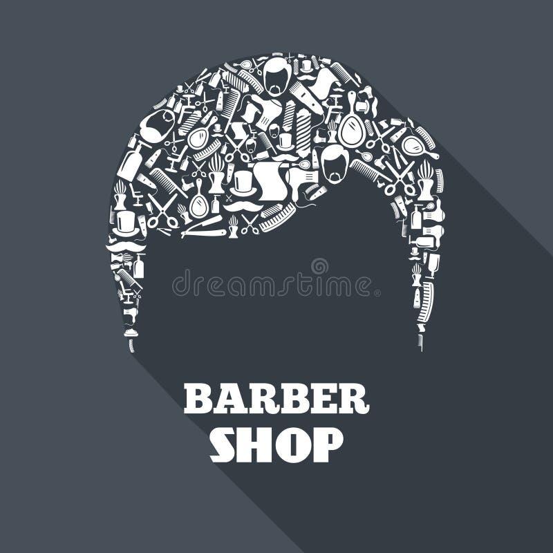 Fryzjera męskiego sklepu pojęcie ilustracji