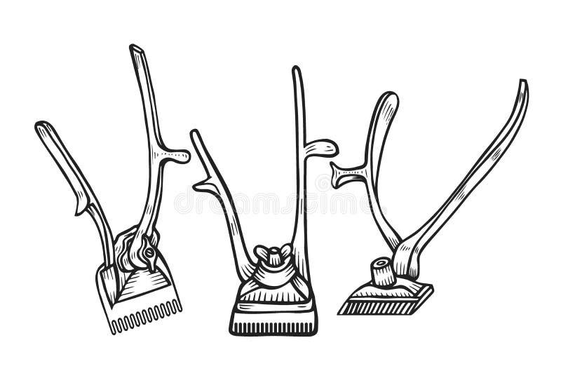Fryzjera męskiego sklepu wektor ilustracji