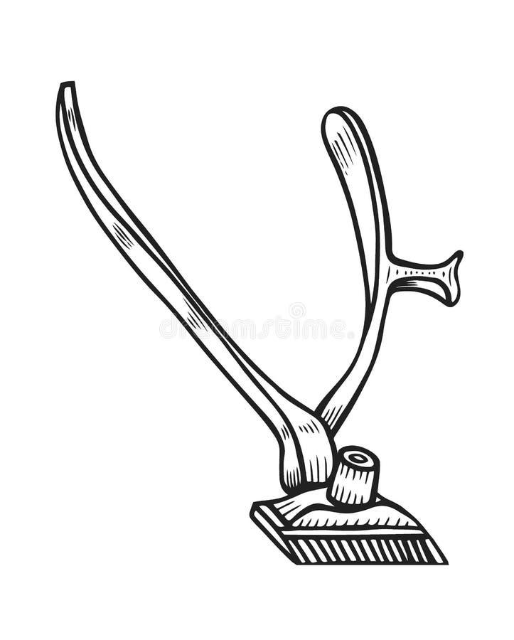 Fryzjera męskiego sklepu wektor royalty ilustracja