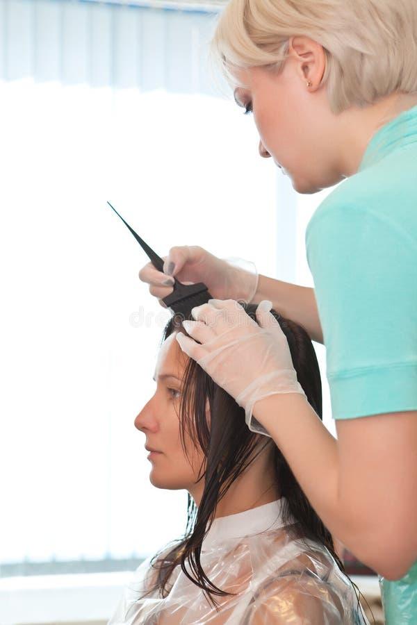 fryzjerstwo procedura zdjęcie stock