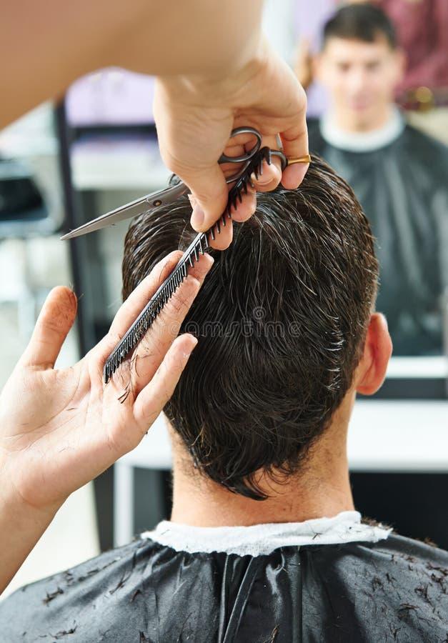 Fryzjerstwo przy piękno salonem zdjęcia royalty free