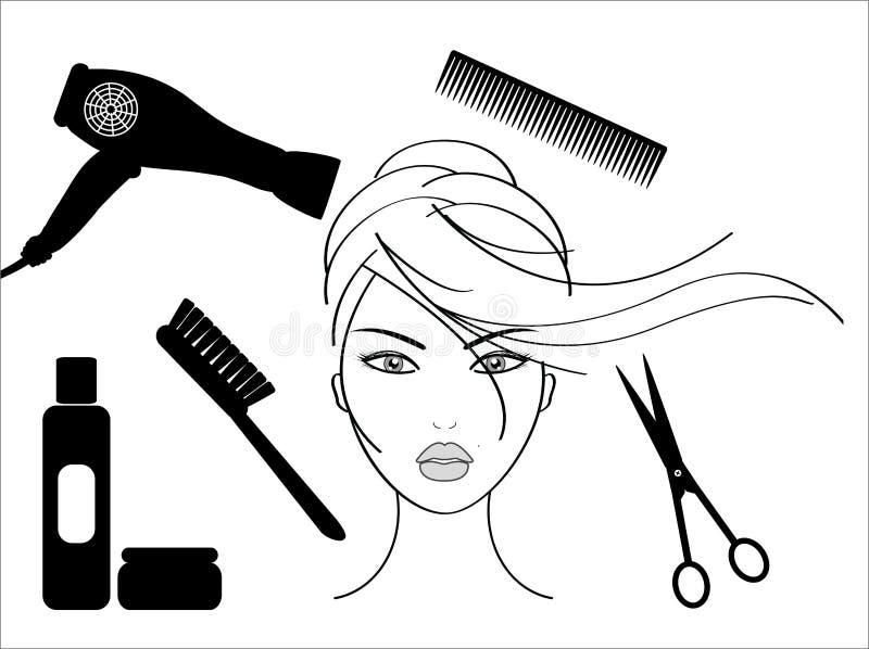fryzjerstwo salon ilustracji