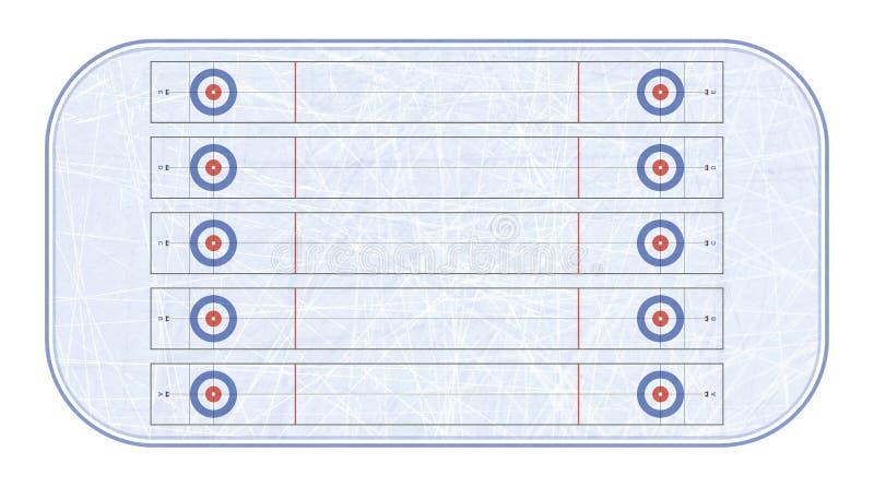 Fryzowania stadium odgórny widok sport na śnieg na zimę gemowy sport Tekstury błękita lód Lodowy lodowisko tła kwiatów świeży ilu royalty ilustracja