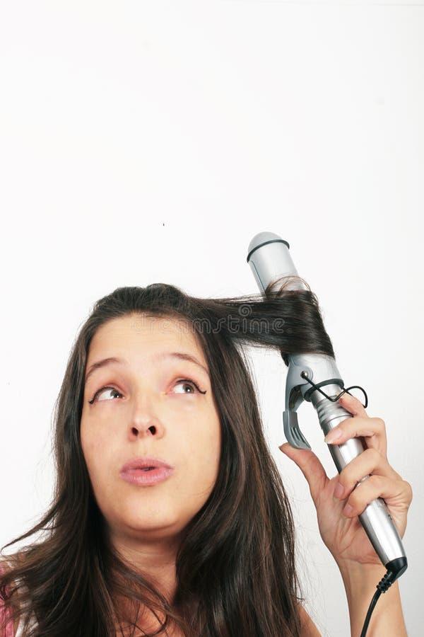 fryzujący włosy obrazy stock