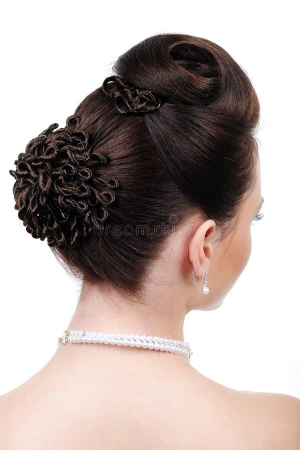 fryzura kreatywnie ślub obrazy stock