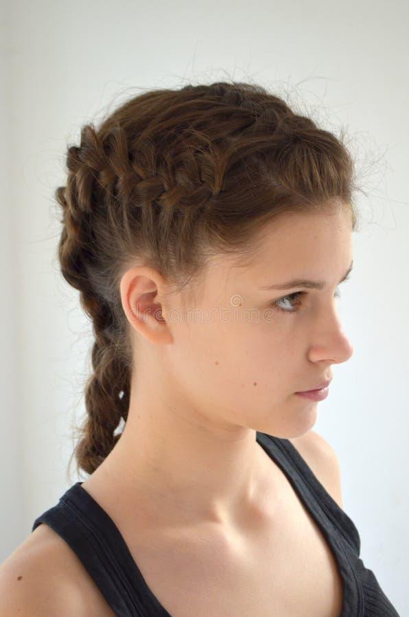 Fryzura na średniej długości włosy zdjęcia royalty free