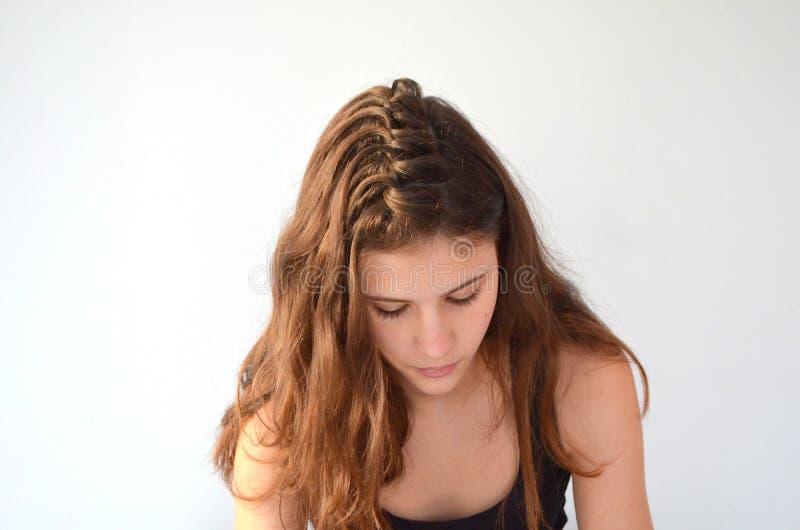Fryzura na średniej długości włosy obraz stock