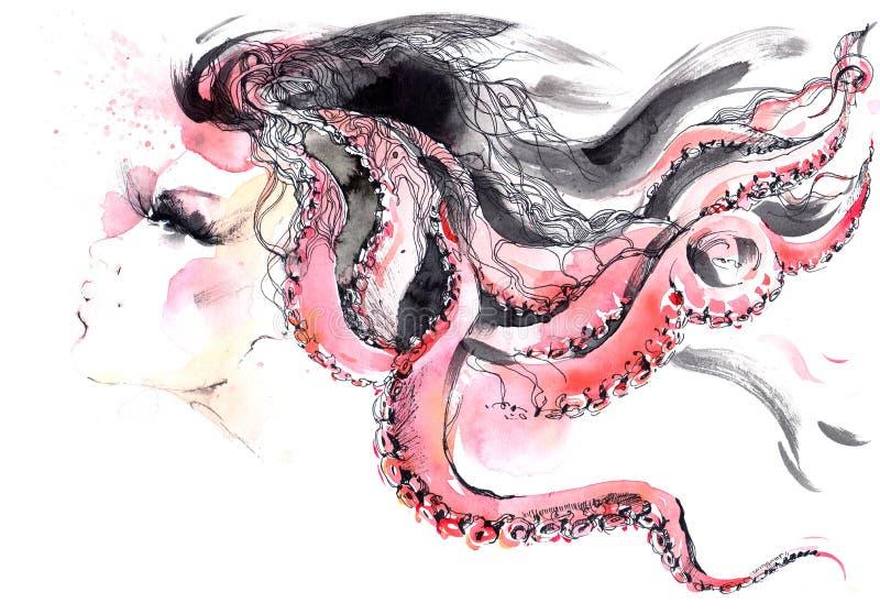 fryzury ilustracja wektor