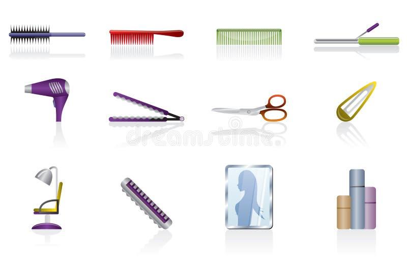 fryzury fryzjerstwa ikona uzupełniający wektor royalty ilustracja