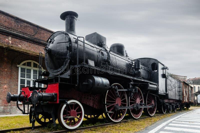Fs klasa 640, włoska parowa lokomotywa obraz stock