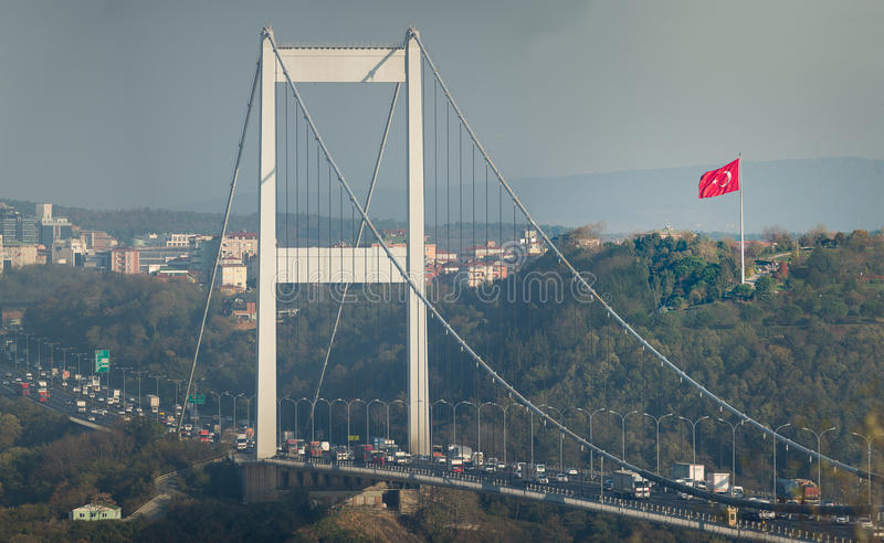 FSM-Brug Istanboel Turkije royalty-vrije stock foto's