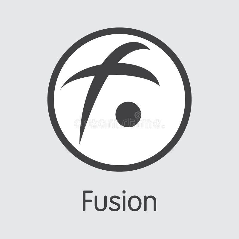 FSN - Сплавливание Логотип виртуальной эмблемы валюты или рынка бесплатная иллюстрация