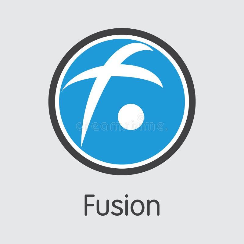 FSN - Сплавливание Торговый логотип эмблемы монетки или рынка иллюстрация вектора