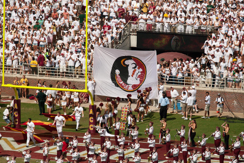 FSU Football Game royalty free stock photography