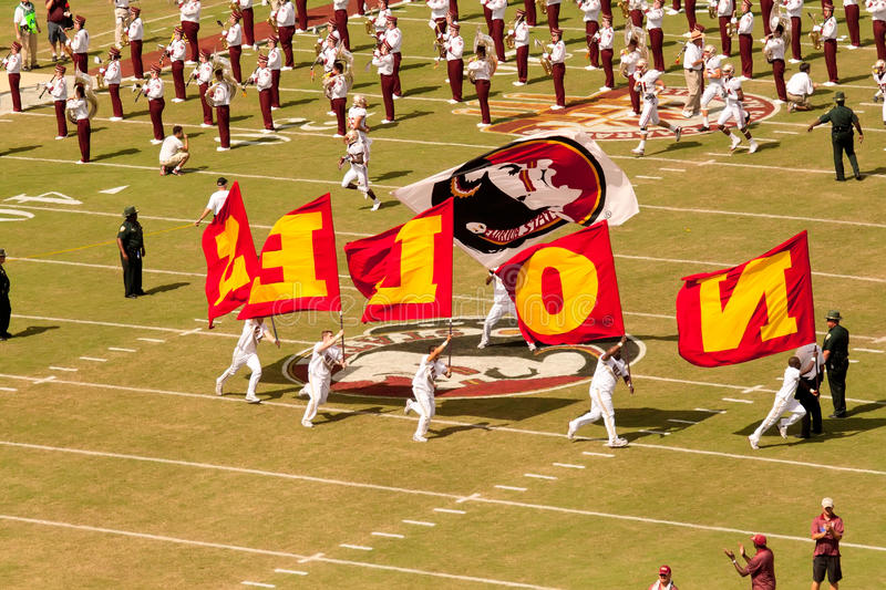 FSU Football Game royalty free stock photos