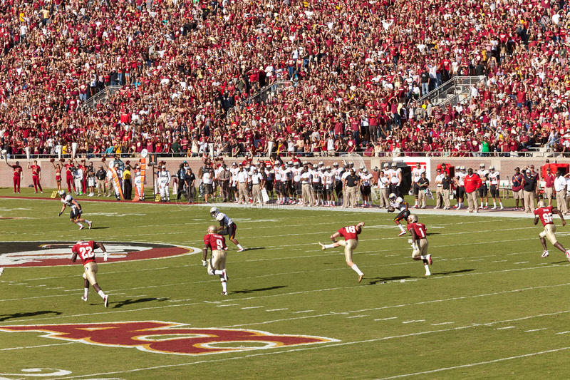 FSU Home Football Game royalty free stock images