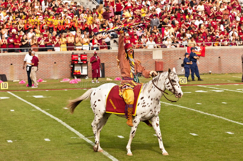 FSU's Chief Osceola royalty free stock image