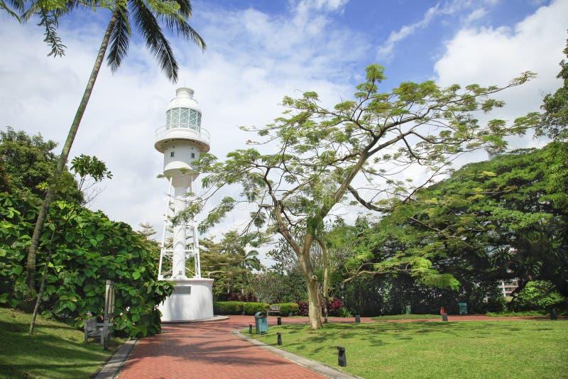 Ft装于罐中的灯塔新加坡 库存照片