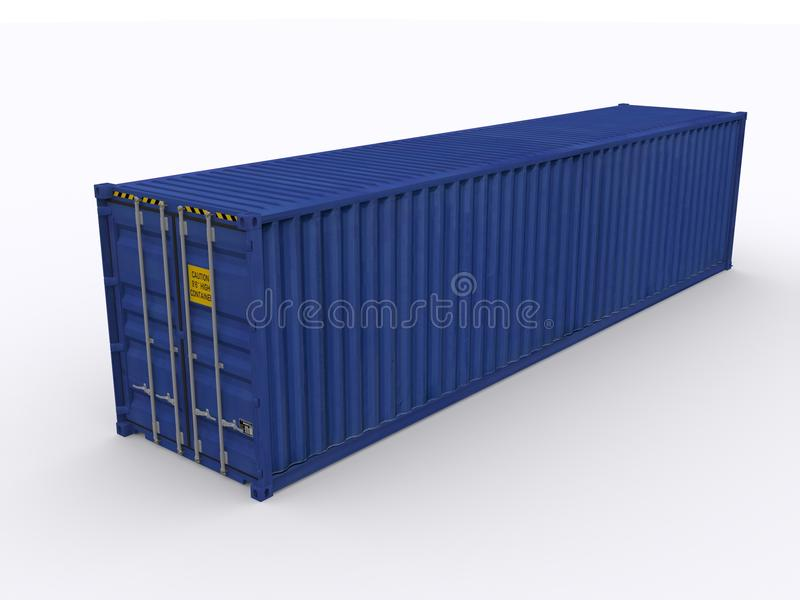 40ft container stock illustratie