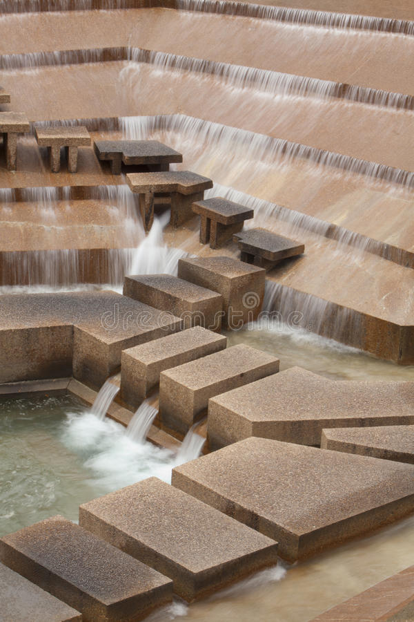 Ft degno i giardini dell'acqua fotografia stock libera da diritti