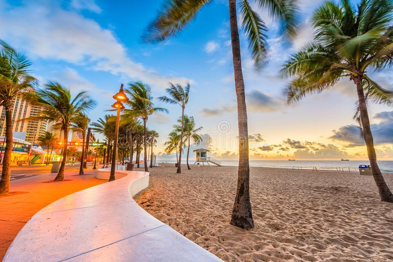 Ft. Lauderdale Beach, Florida, USA. At Las Olas Blvd royalty free stock photo