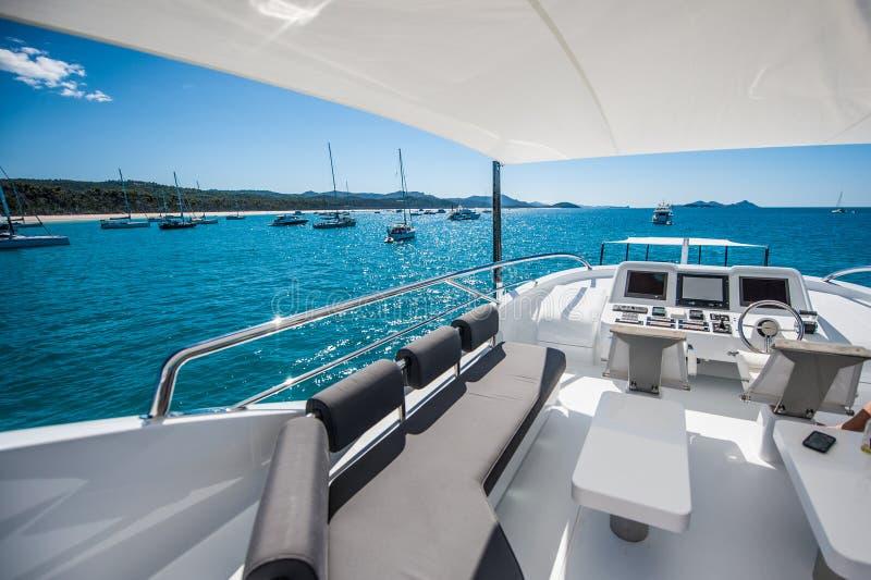 Quantum Super yacht Hamilton Island royalty free stock photo