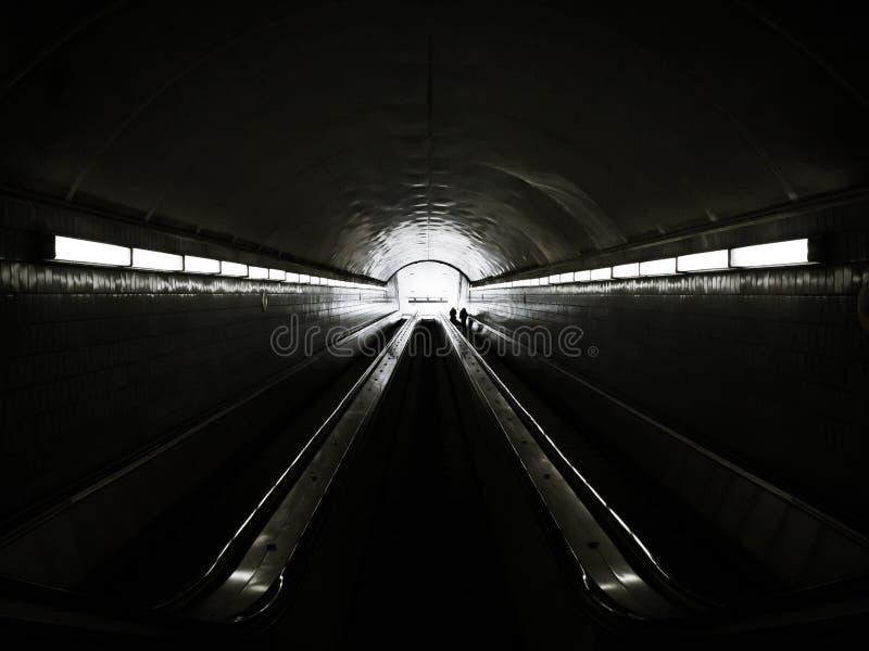 120 ft unter Peachtree-Straße stockbilder