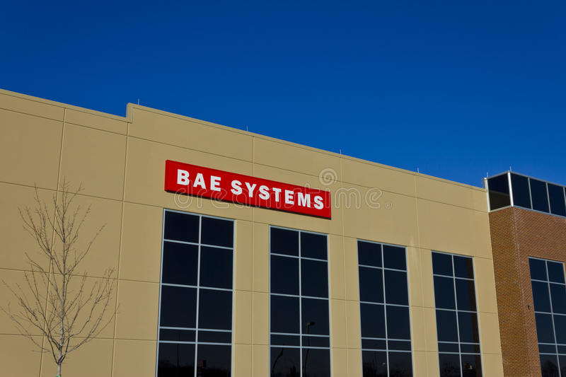 Ft. Wayne, IN - Circa December 2015: BAE Systems Manufacturing Facility royalty free stock image