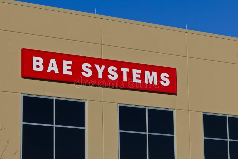 Ft Wayne, IN- circa dicembre 2015: BAE Systems Manufacturing Facility fotografie stock libere da diritti