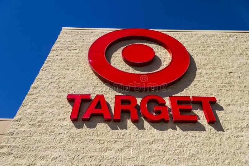 Ft. Wayne - Circa September 2016: Target Retail Logo. Target Sells Home Goods, Clothing and Electronics VII stock photo
