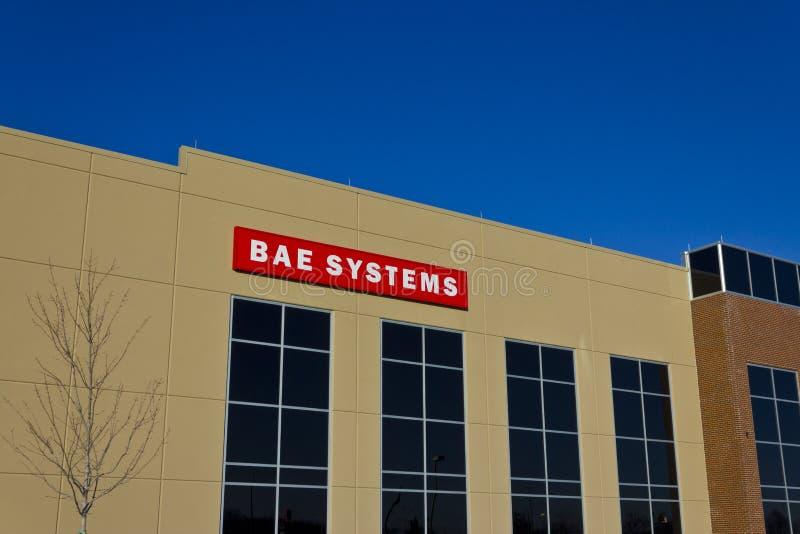 Ft Wayne, DENTRO - cerca do dezembro de 2015: BAE Systems Manufacturing Facility imagem de stock royalty free