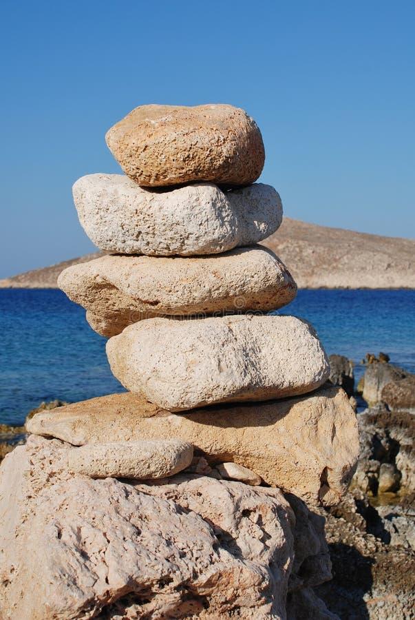 Ftenagiastenen, Halki-eiland royalty-vrije stock afbeelding