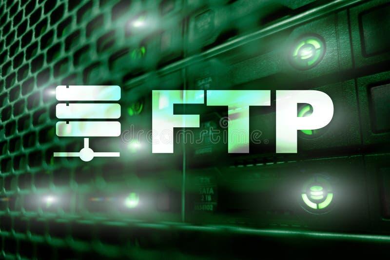 FTP - FTP Концепция интернета и техники связи бесплатная иллюстрация