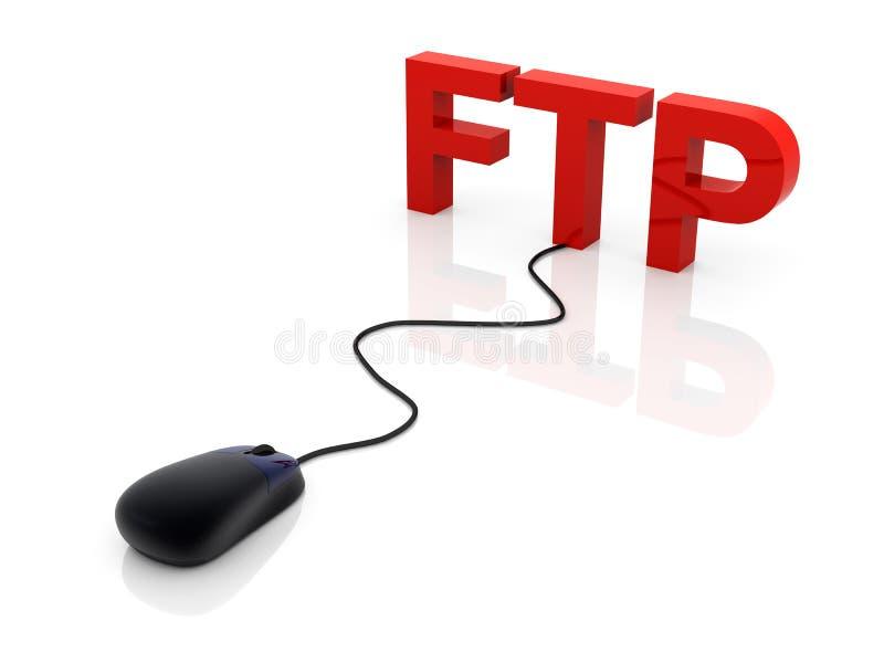 Ftp ilustração royalty free