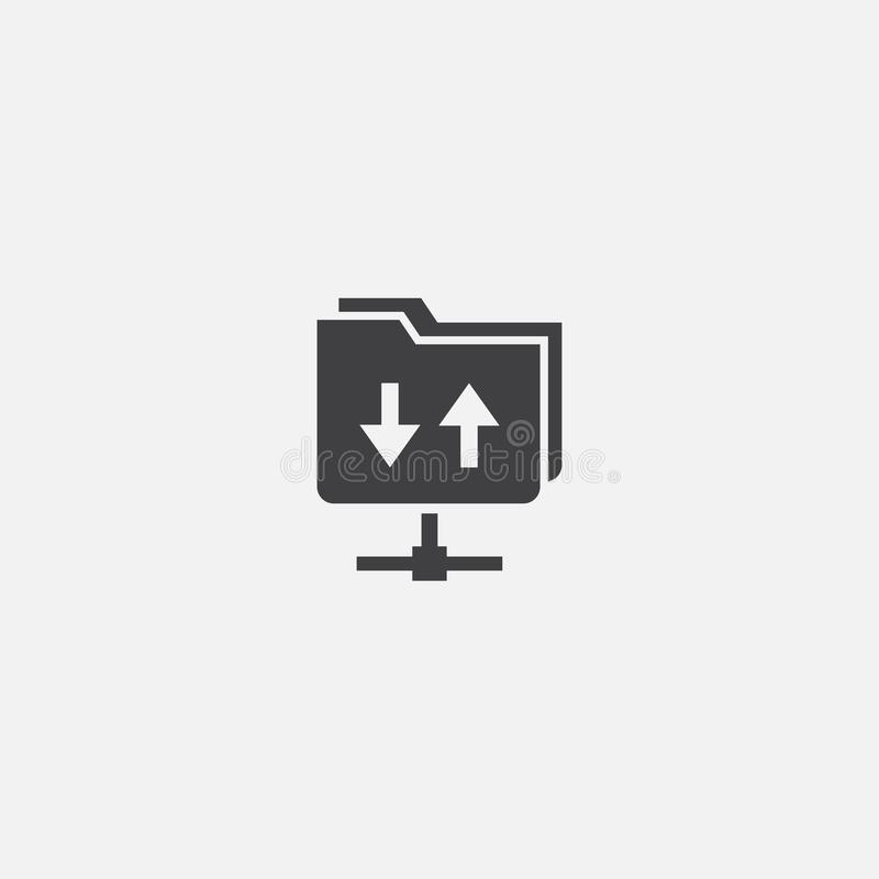 FTP-basikon Enkel illustration av tecken royaltyfri illustrationer