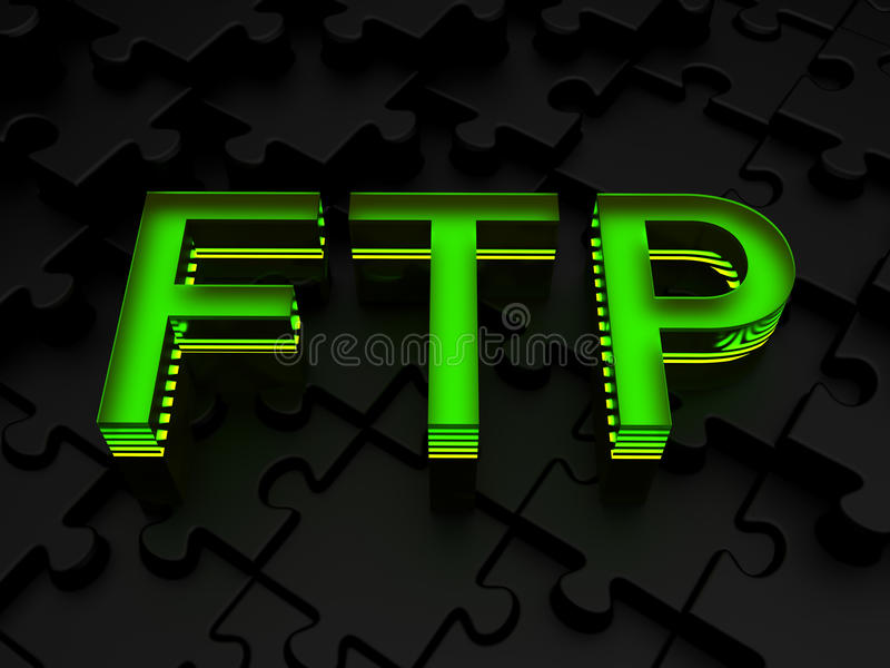 FTP (FTP) иллюстрация штока