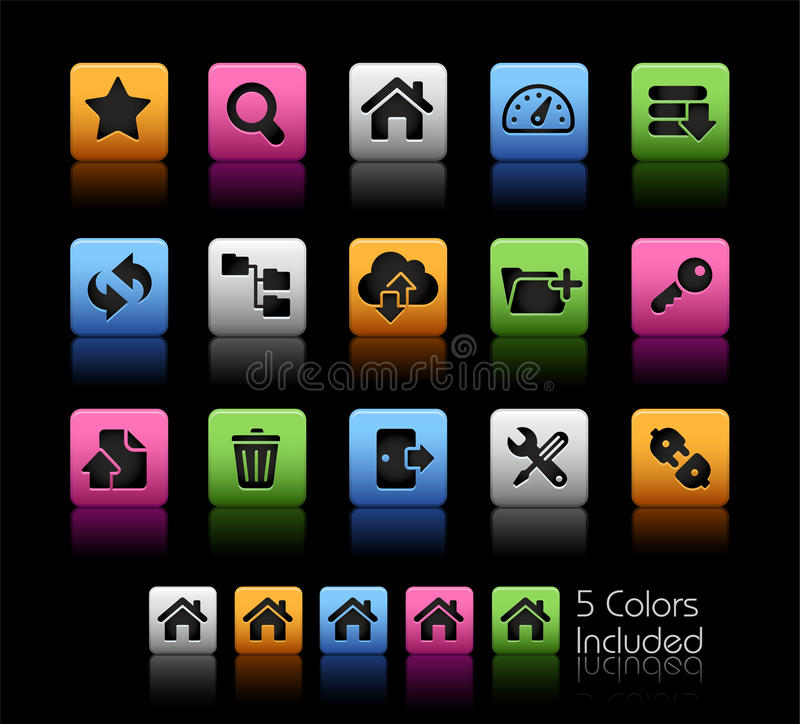 Download FTP & Hosting Icons // Color Box Stock Vector - Image: 27457403