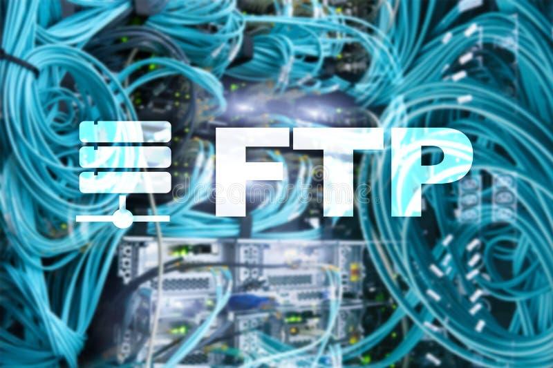 Ftp - Protocolo de transferência de arquivos Conceito da tecnologia do Internet e de comunicação ilustração do vetor